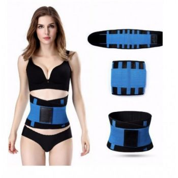 Пояс для похудения на липучке Hot Shapers Belt Power утягивающий Синий