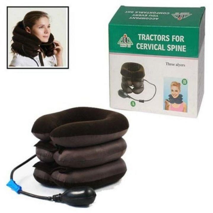 Надувная подушка для шеи Tractors For Cervical Spine ортопедический воротник при остеохондрозе Brown