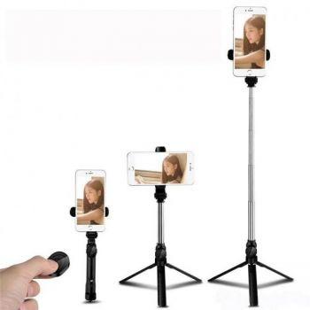 Монопод для селфи беспроводной селфи палка с пультом ДУ для телефона Selfie Stick Tripod For Smartphone XT 10 Bluetooth