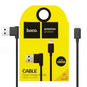USB кабель для зарядки смартфона Hoco UPL11 Lightning-USB для iPhone, iPad 1.2м черный