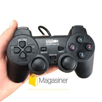 Геймпад проводной Double Shock 2 Gemix PC/USB, Black (1418)