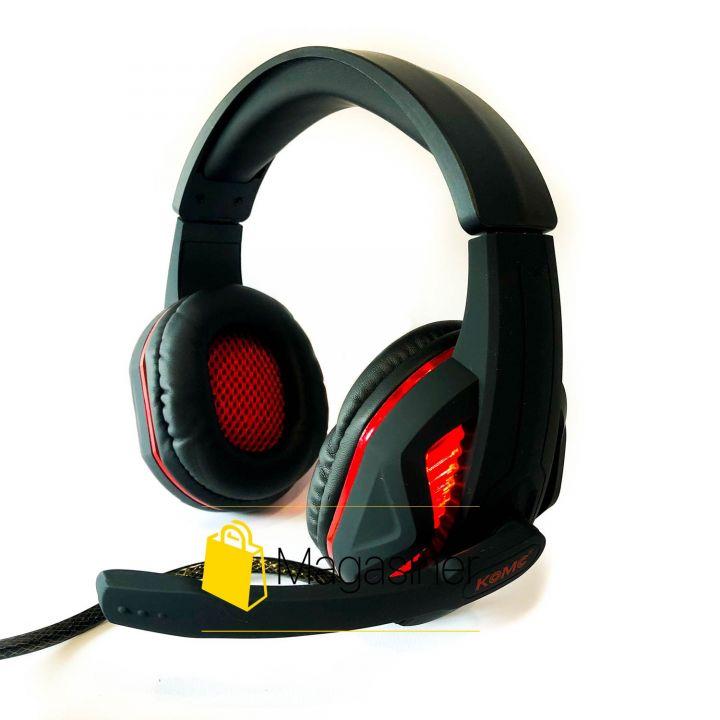 Игровые проводные наушники KOMC G20 Wired с микрофоном и подсветкой (1441)