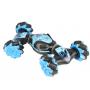 Машинка трансформер - перевёртыш на управлении жестами и пульте Air Gesture Stunt Car Трюковая машина - вездеход на радиоуправлении c аккумулятором синяя