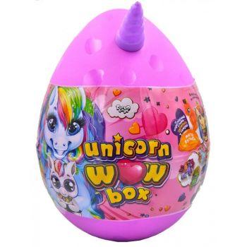 Детский набор для творчества Danko toys Unicorn Wow Box яйцо единорог розовое маленькое