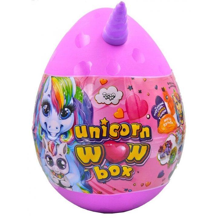 Детский набор для творчества Danko toys Unicorn Wow Box яйцо единорог 24 предмета