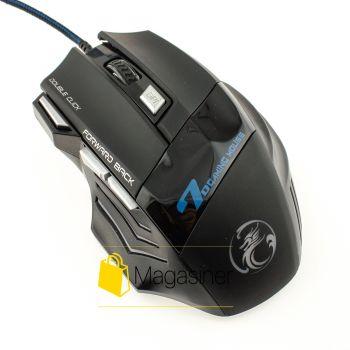 Игровая мышка с подсветкой Estone IMICE X7 2400 DPI Gaming  черная (145-tg)