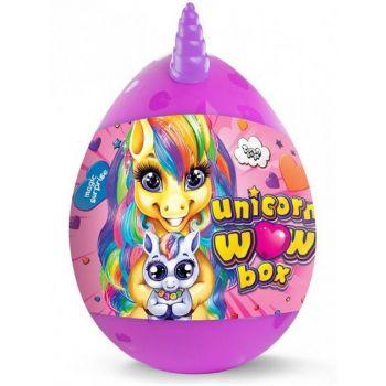 Детский набор для творчества Danko toys Unicorn Wow Box яйцо единорог 24 предмета фиолетовое