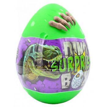 Детский игровой набор для творчества Яйцо Динозавра DINO SURPRISE BOX Danko Toys 30 см 15 сюрпризов зеленый