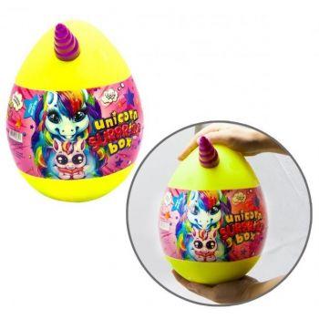Детский набор для творчества Danko toys Unicorn Wow Box яйцо единорог желтое маленькое