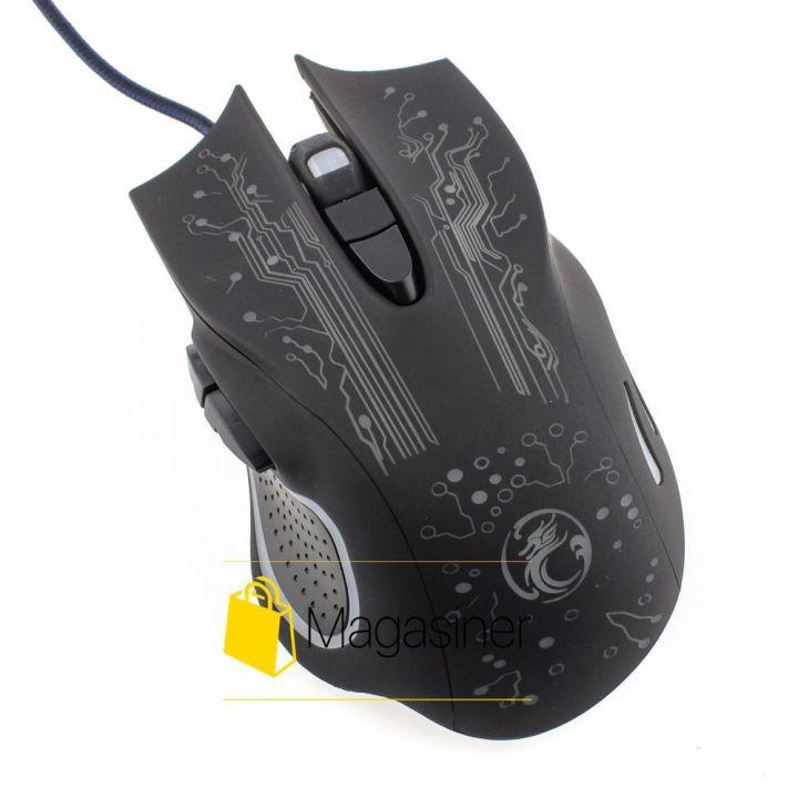 Мышь проводная Estone IMICE X9 800-2400 DPI Gaming черная (146-tg)