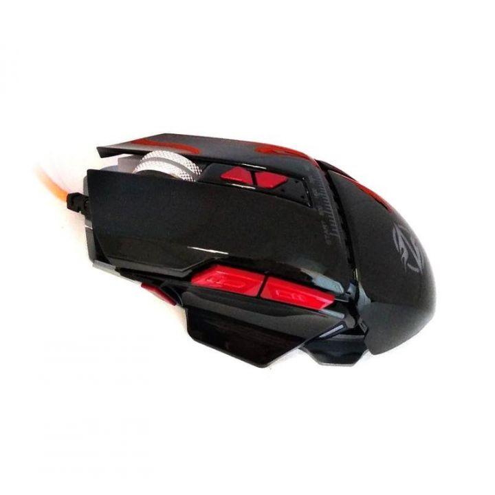 Игровая проводная мышка Zornwee Equipmet Master GX10 3200 dpi мышь компьютерная геймерская LED подсветка черная
