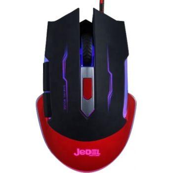 Игровая проводная мышка Jedel GM740 2400 dpi мышь компьютерная геймерская LED подсветка черная