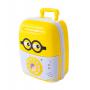 Электронная копилка-сейф с кодовым замком и отпечатком Saving Box чемоданчик в виде миньона желтый