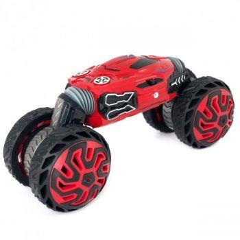 Трюковая машинка вездеход трансформер перевертыш на радиоуправлении 36см Dance Monster STUNT Красная