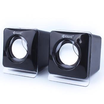 Настольные проводные мини колонки Kisonli V410 для ПК ноутбука телефона маленькая usb акустика