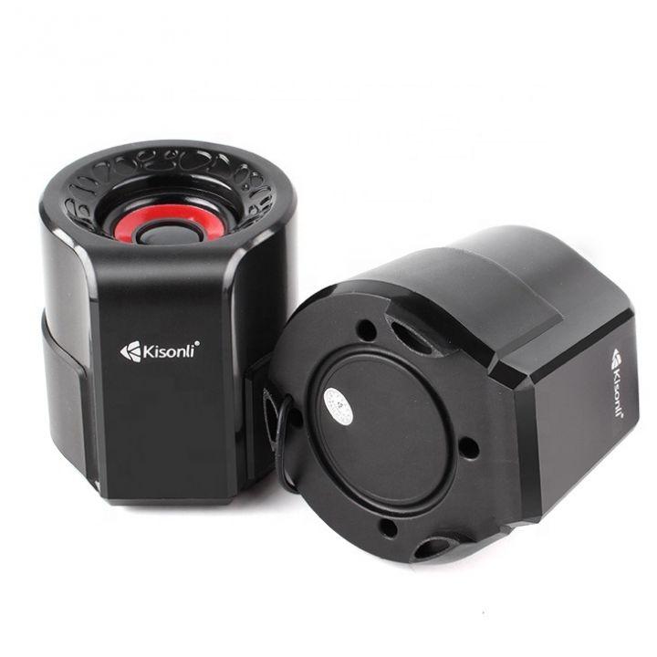 Настольные проводные мини колонки Kisonli A-909 для ПК ноутбука телефона маленькая usb акустика