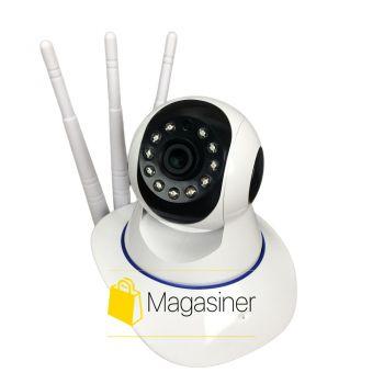 IP камера видеонаблюдения WiFi 380 Pro автономная для дома поворотная панорамна вай фай видеокамера p2p smart (1516)