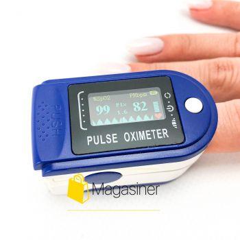 Пульсоксиметр Pulse Oximeter оксиметр на палец портативный прибор для измерения сатурации пульсометр (1541)