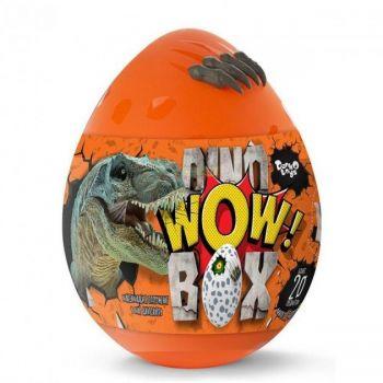 Детский игровой набор для творчества Яйцо Динозавра Dino WOW Box Danko Toys оранжевое