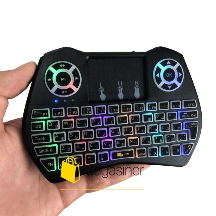Беспроводная мини клавиатура русская с тачпадом Protech Mini Keyboard UKC для Smart TV android планшета ноутбука смарт тв (1550)