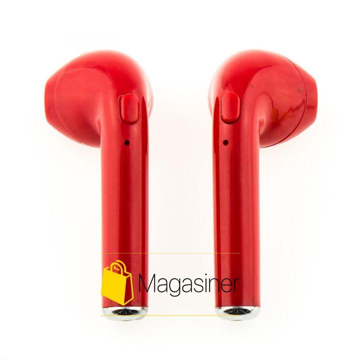 Беспроводные Bluetooth наушники HBQ i7s TWS красные (156-tg)