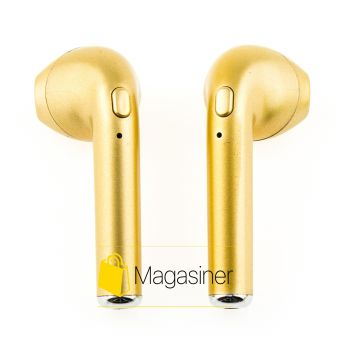 Беспроводные Bluetooth наушники HBQ i7s TWS Золотые (157-tg)
