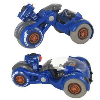 Радиоуправляемая детская машинка багги мотоцикл с эффектом дыма и дезинфектором Virus Hunter Синий