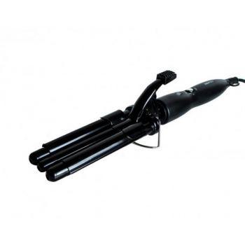 Плойка для завивки волос щипцы тройная волна 25мм PRO Mozer MZ-6621 с регулировкой температуры керамическое покрытие