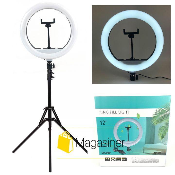 Кольцевая лампа (селфи кольцо) 30 см для блогера с штативом 2м / селфи / фотографа / визажиста (1651)