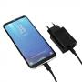 Сетевое зарядное устройство REDDAX-RDX-031 3 A быстрая зарядка вольтметр для Android USB microUSB