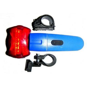Трехрежимный велосипедный LED фонарь KK 860 велофонарь, фара-мигалка, передний фонарь, свет для велосипеда KK 860 синий