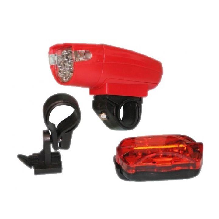 Трехрежимный велосипедный LED фонарь KK 860 велофонарь, фара-мигалка, передний фонарь, свет для велосипеда KK 860 красный