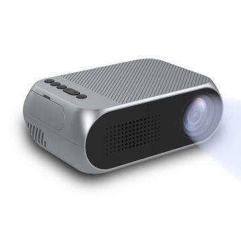 Портативный проектор Led Projektor YG320 Mini мультимедийный с динамиком Grey (1700)