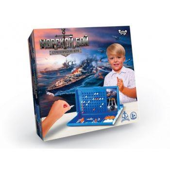 Детская настольная развлекательная игра Морской Бой Danko Toys  развивающая настолка для всей семьи