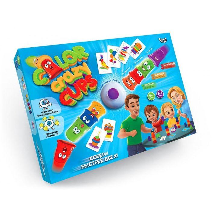 Настольная игра цветные колпачки Crazy Color Cups Danko Toys развивающая настолка для всей семьи