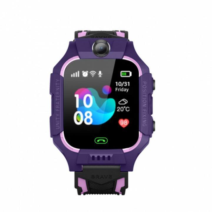 Детские смарт часы Baby Smart Watch Q6 с камерой GPS трекером фиолетовые