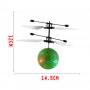 Детская летающая игрушка вертолет Летающий Шар Flying Ball JM-888 инфракрасная индукционная