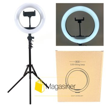Кольцевая лампа (селфи кольцо) 20 см для блогера с штативом 2м / селфи / фотографа / визажиста (1724)
