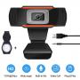 Веб-камера HD 720p (1280x720) с встроенным микрофоном вебкамера для ПК компьютера скайпа UTM Webcam (SJ-922) + колпачок-крышка на объектив