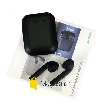Беспроводные наушники Inpods 12 TWS Bluetooth black (1749)