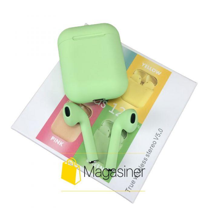 Беспроводные наушники Inpods 12 TWS Bluetooth green (1750)