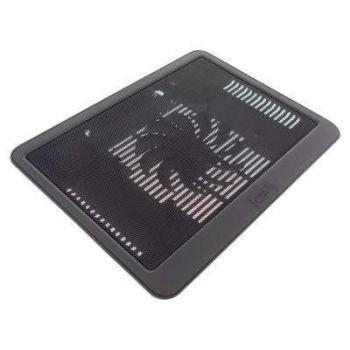 Охлаждающая подставка для ноутбука с подсветкой N19 регулируемая с подсветкой и вентилятором usb