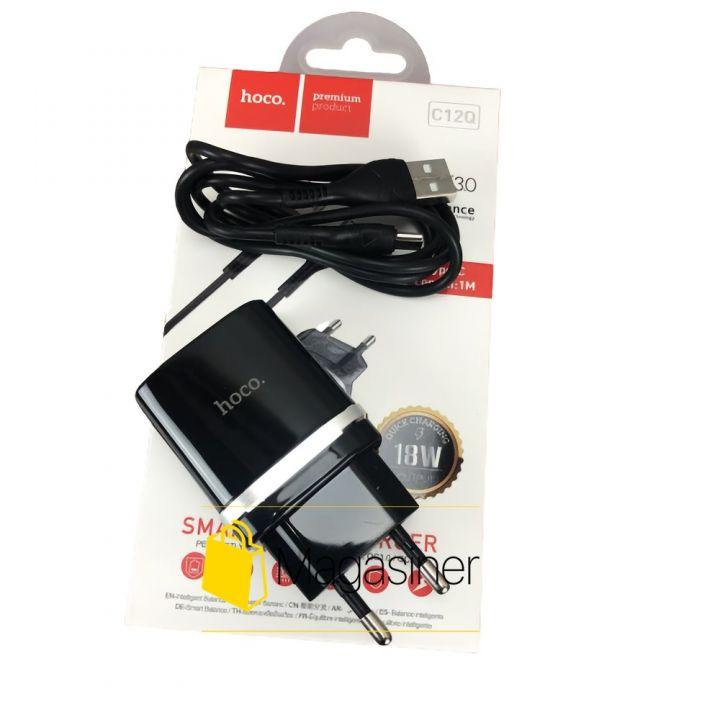 Сетевое зарядное устройство для телефона с быстрой зарядкой QC 3.0 Hoco C12Q 3А ампера быстрая зарядка type c тайп си (1763)