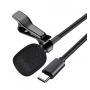 Петличный микрофон петличка XO Type-C MKF 02 для телефона смартфона пк