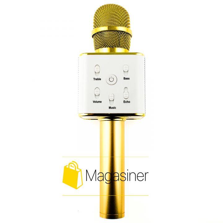 Беспроводной караоке микрофон MagicMusic Q7 Original Gold (178-tg)