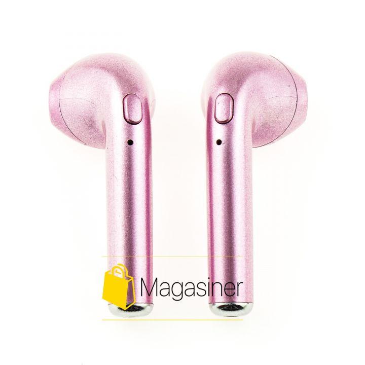 Беспроводные Bluetooth наушники HBQ i7s TWS розовые (186-tg)