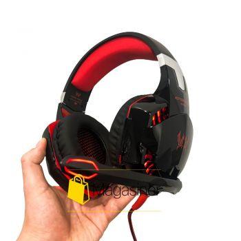 Игровые наушники Kotion Each G2000 с микрофоном и подсветкой Red