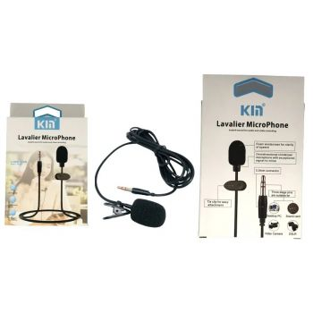 Петличный микрофон петличка KM-001 3.5 мм для телефона камеры компьютера