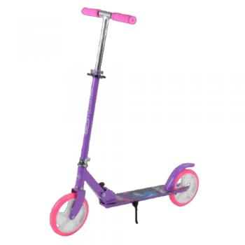 Детский складной самокат двухколесный  Best Scooter 66053 с ножным тормозом розовый
