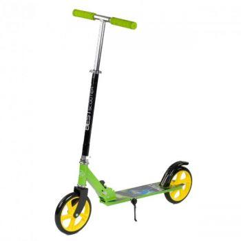 Детский складной самокат двухколесный  Best Scooter 66053 с ножным тормозом зеленый